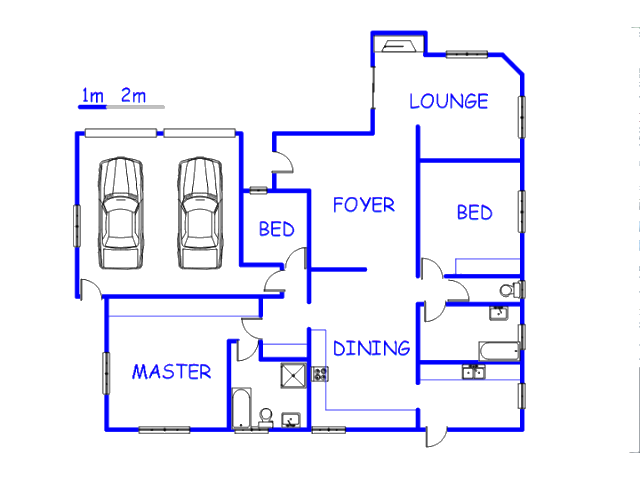 Floor plan of the property in Pringle Bay