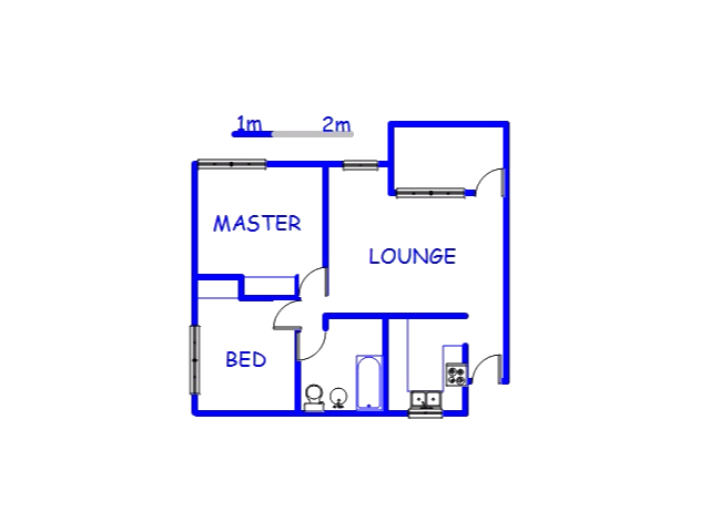 Floor plan of the property in Moseley