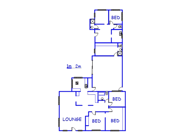 Floor plan of the property in Silverglen