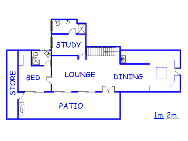 Floor plan of the property in Hout Bay