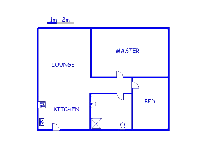 Floor plan of the property in Piet Retief