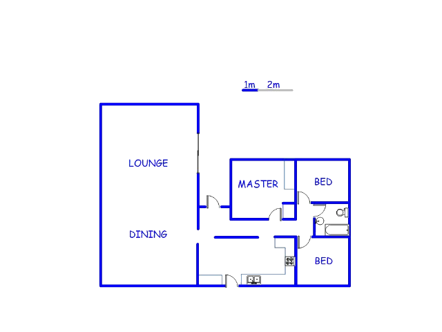 Floor plan of the property in Chloorkop