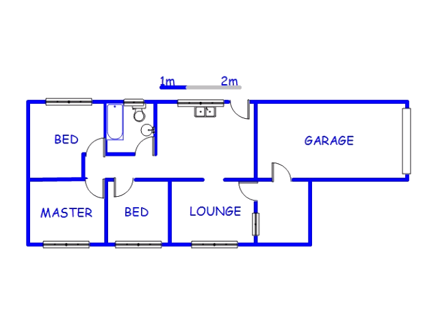 Floor plan of the property in Lovu