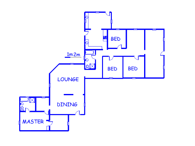 Floor plan of the property in Garthdale A.H