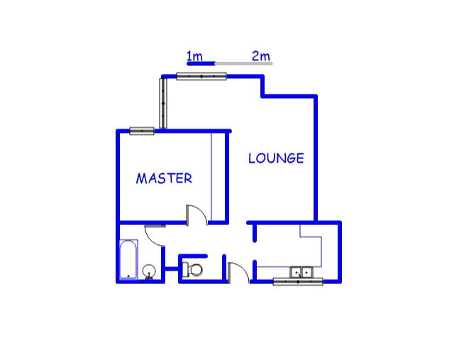 Floor plan of the property in Isipingo Hills