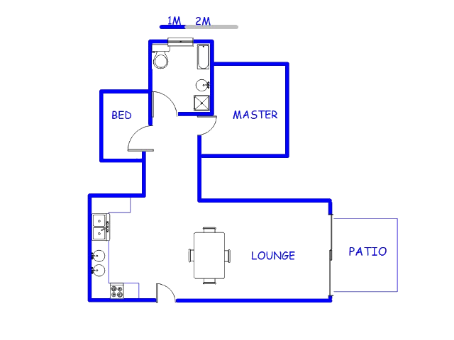 Floor plan of the property in Equestria