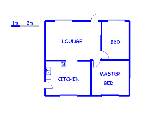 Floor plan of the property in Edendale-KZN