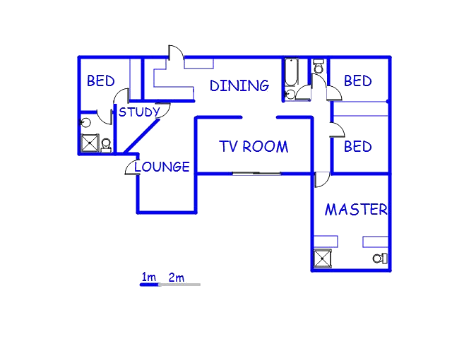 Floor plan of the property in George East