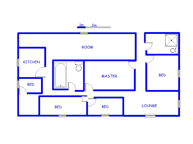 Floor plan of the property in Clare Hills