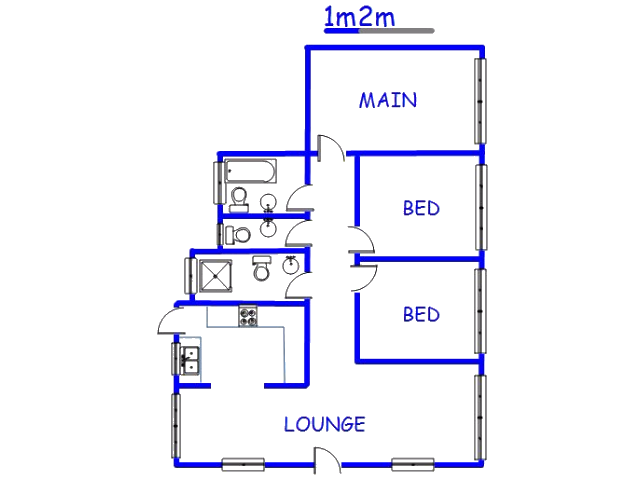 Floor plan of the property in Ottosdal
