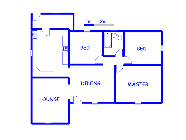 Floor plan of the property in Gerdview