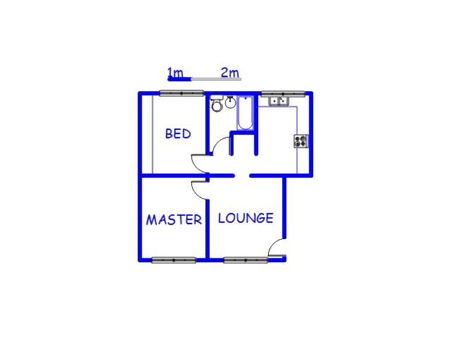 Floor plan of the property in Jacobs