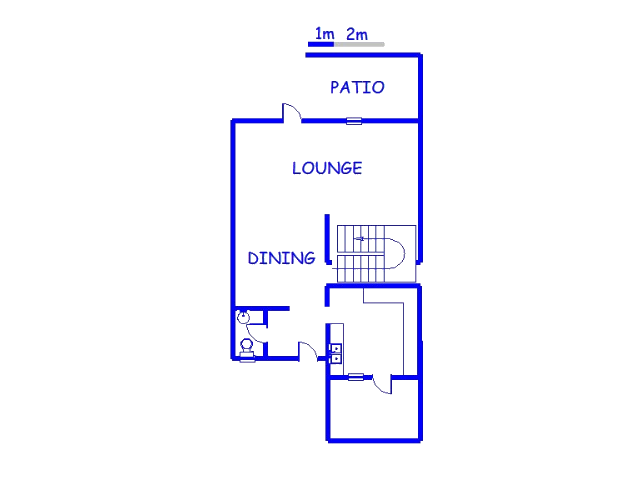 Floor plan of the property in St Andrews