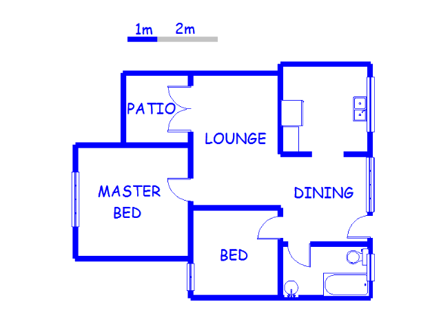 Floor plan of the property in Isipingo Rail