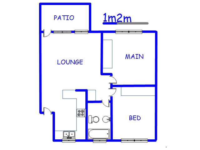 Floor plan of the property in East Lynne