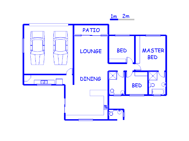 Floor plan of the property in Marina Beach