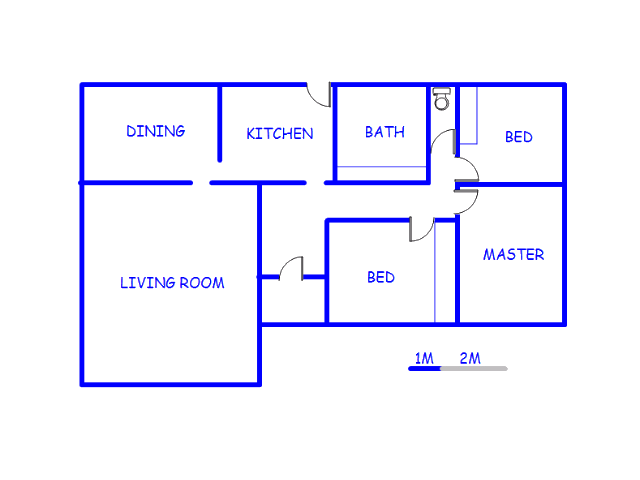 Floor plan of the property in Rietkuil