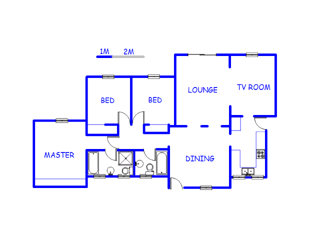 Floor plan of the property in Eldorado Estate