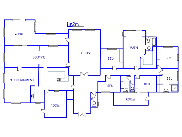 Floor plan of the property in Sunset View AH