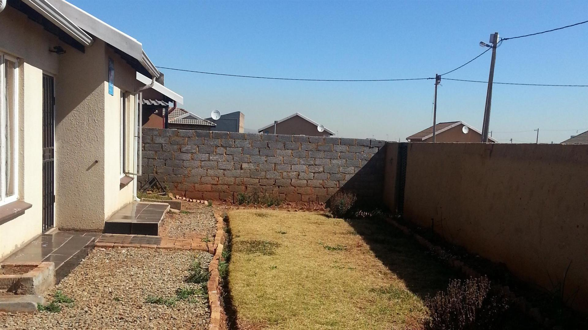 Backyard of property in Vosloorus