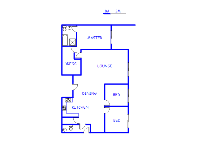 Floor plan of the property in Marloth Park