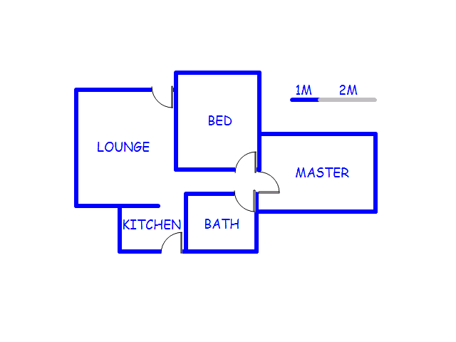 Floor plan of the property in Zeerust