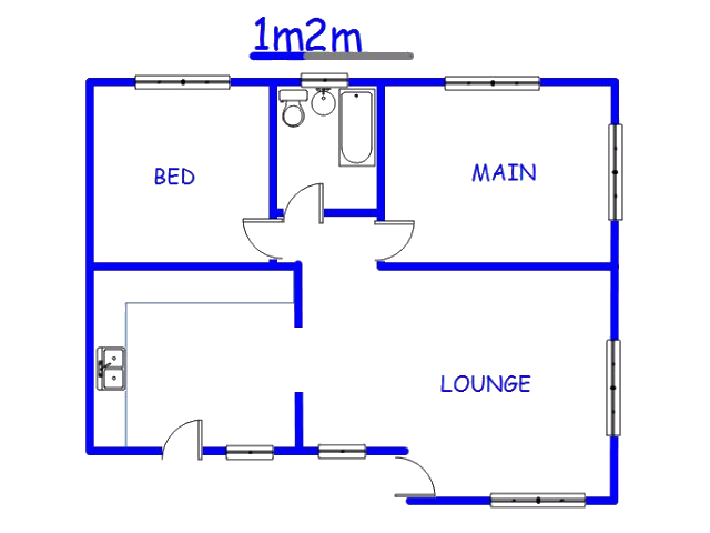 Floor plan of the property in Orange farm
