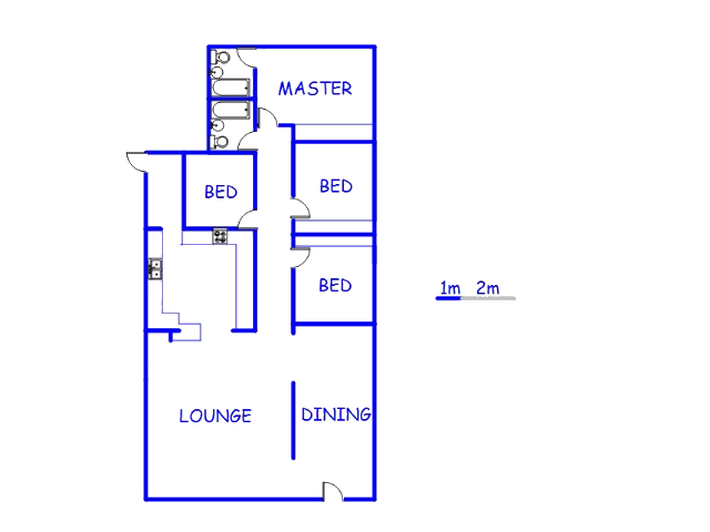 Floor plan of the property in Mindalore