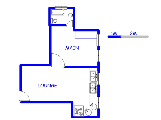 Floor plan of the property in Nazareth- MP