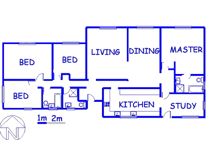 Floor plan of the property in Welkom