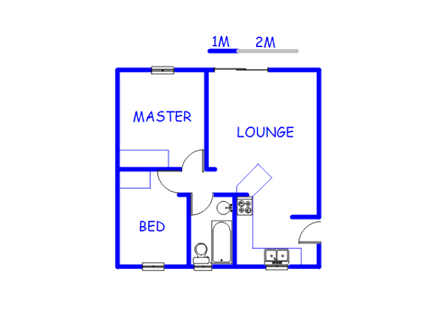 Floor plan of the property in Lephalale (Ellisras)