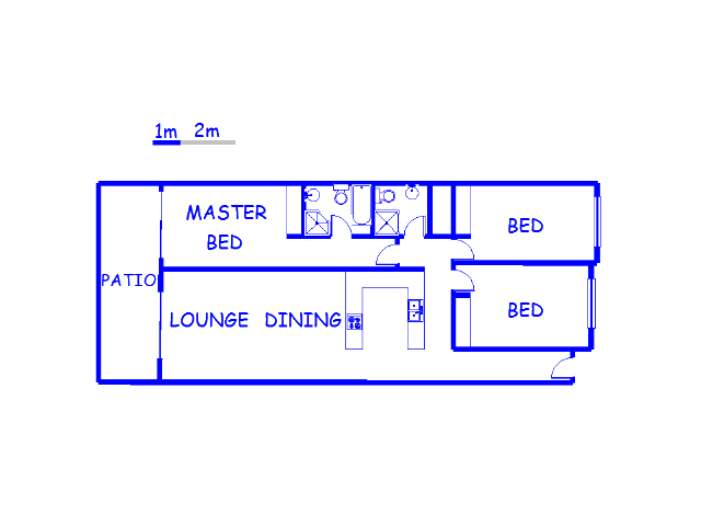 Floor plan of the property in Umhlanga
