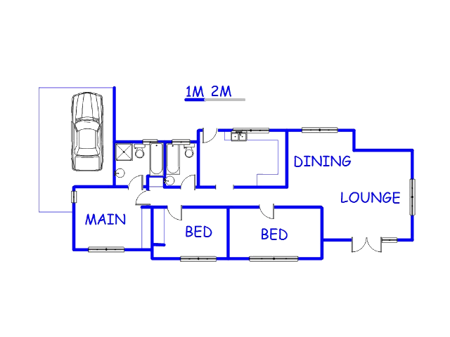 Floor plan of the property in Die Heuwel