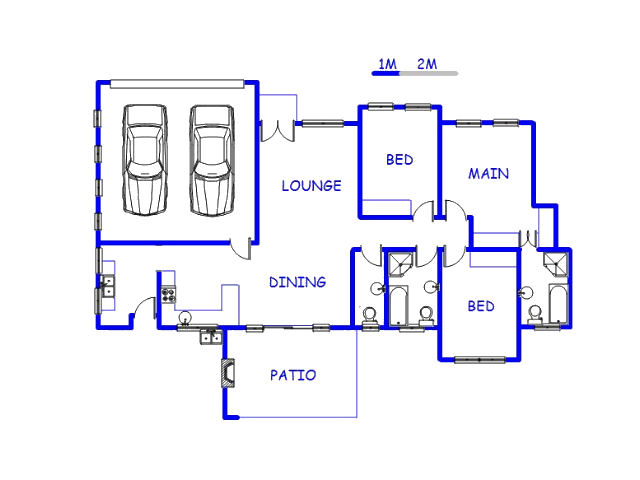 Floor plan of the property in Kosmosdal