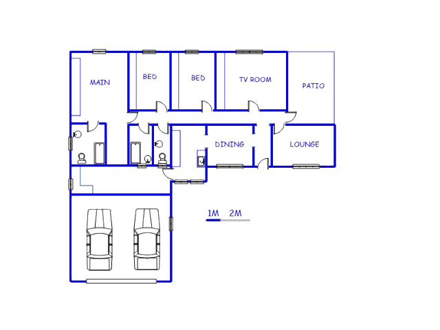 Floor plan of the property in Odendaalsrus