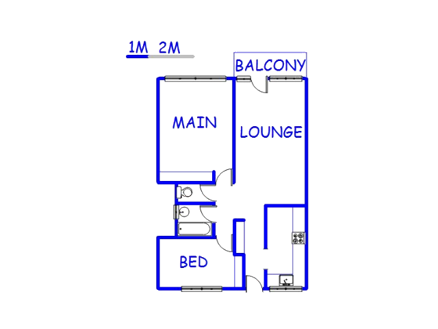 Floor plan of the property in Pretoria Central