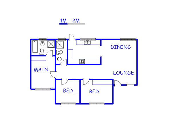 Floor plan of the property in Kamagugu