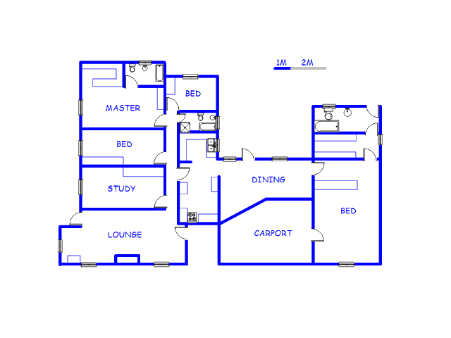 Floor plan of the property in Flamwood