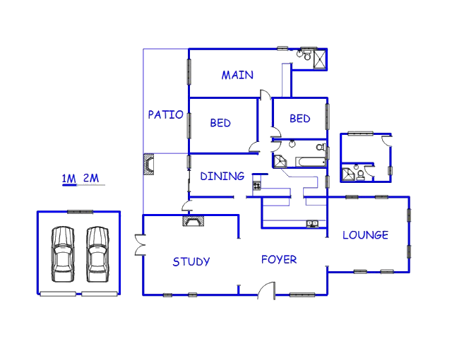 Floor plan of the property in Beacon Bay