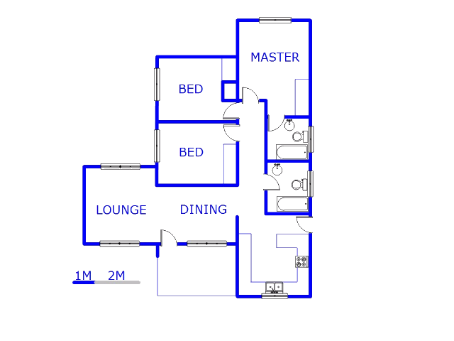 Floor plan of the property in Whitney Gardens
