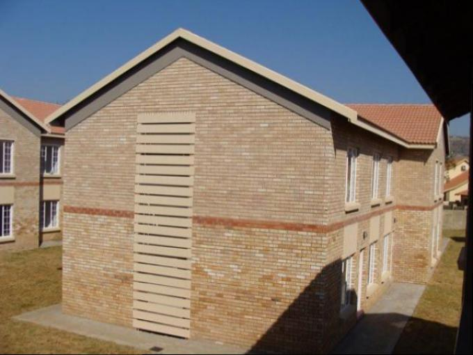 Standard Bank EasySell 2 Bedroom Sectional Title for Sale in Waterval East - MR144460