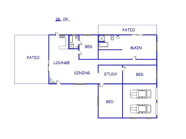 Floor plan of the property in Thabazimbi