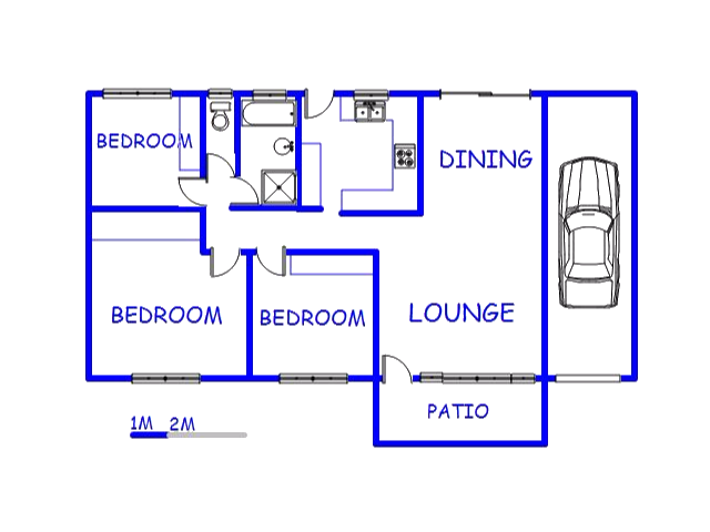 Floor plan of the property in Yellowwood Park