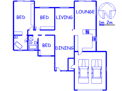 Floor plan of the property in Buccleuch