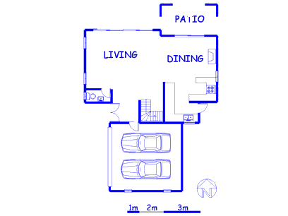Floor plan of the property in Heuwelsig Estate