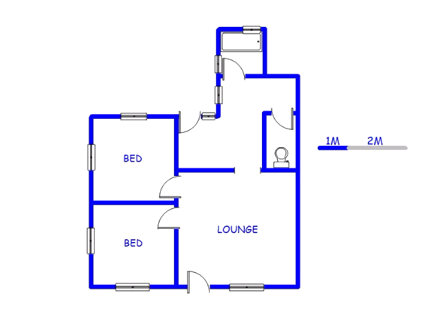 Floor plan of the property in Holland Park