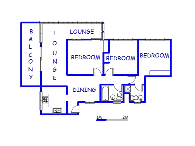 Floor plan of the property in Amanzimtoti