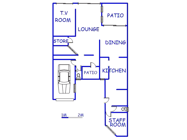 Floor plan of the property in Zinkwazi