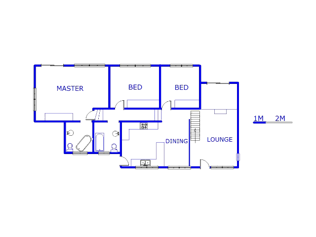 Floor plan of the property in Oakdene