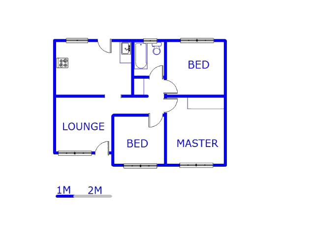 Floor plan of the property in Klipspruit West